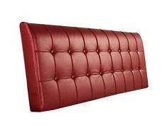 N / A Testata Cuscino Cuscino Testiera Grande- Cuscino Lettura Cuscino in Pelle Rosso Cuscino Comodino Schienale Hotel-Nessuna Testata -90 cm_Vino Rosso