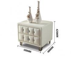 Yi Feng Cassettiera Comodino Comodino in Pelle Comodino Comodino in Pelle Decorazione di mobili