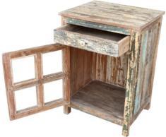 Guru-Shop Armadio Antico-side, Cassettiera, Comodino con JH8-643 Porta a Vetri, 70x51x40 cm, Armadietti