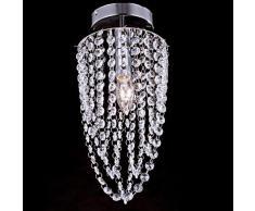 Lampade da soffitto, 1 luce, Crystal Beadalon Artistic Wire-Filo placcato in acciaio INOX, MC-29180
