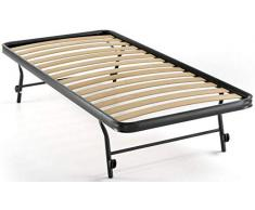 RETE A DOGHE STRETTE ESTRAIBILE PER LETTO SINGOLO 80X190 ORTOPEDICA APRIBILE PIEGHEVOLE (190 Centimetri)