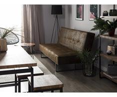 Divano letto marrone - Divano in pelle - Sofa 3 posti - Divano moderno - DERBY