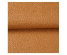 Borsa Morbida Tessuto in Pelle Artificiale Borsa Rigida PU Tessuto in Pelle Sintetica Comodino in Similpelle Fai da Te Fatto A Mano in Tessuto Modello Litchi(Color:Marrone)