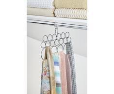 mDesign porta sciarpe salvaspazio - perfetto per tenere in ordine sciarpe e foulard nell'armadio ma anche come portacravatte - 17 vani