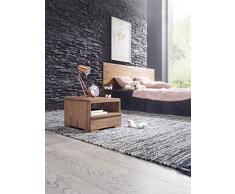 Wohnling wl1,520 acacia legno massello-Comodino con cassetto e ripiano, 40 x 40 x 30 cm