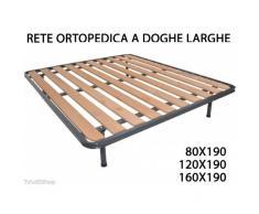 TradeShopTraesio® - RETE RETI ORTOPEDICA ORTOPEDICHE A DOGHE LARGHE STRUTTURA TUBOLARE 10 LISTELLI - 80 X 190