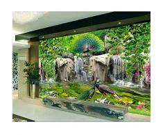carta da parati 3d della foto su ordinazione Roccia fresca del fiore del pavone del valletto Decorazione domestica soggiorno 3d murales di carta da parati per pareti 3 d-250X175CM