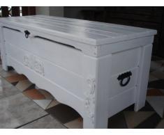 Decocraft Cassapanca in legno tavolino baule vintage in legno cassapanca (BT3)