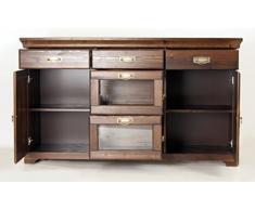 Credenza, cassettiera in legno di pino laccato kolonialfarben, armadio, credenza