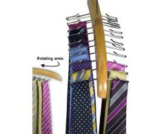 Hangerworld - Portacravatte in legno per 24 cravatte