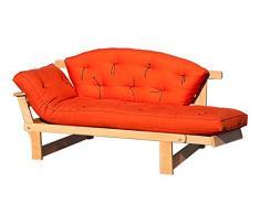 VivereZen - Divano letto futon - Sesamo Naturale in promozione Con futon + schienale