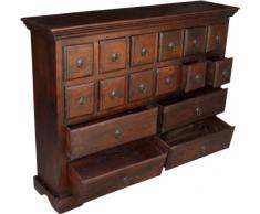 Guru-Shop Armadio per Farmacia in Stile Coloniale, Cassettiera R532, Marrone, Legno, 98x128x30 cm, Piccoli Armadi