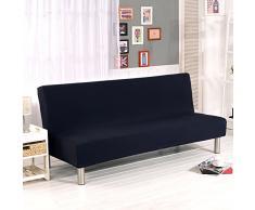 divano senza maniglie rivestimento divano letto divano letto slipcover protettore elastico spandex moderno semplice pieghevole divano divano scudo futon copertura da yunhigh - nero