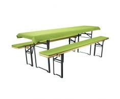 Birra Bank Set di cuscini per sedie tavoli e panche 2 panche imbottite di circa 220 X 25 X 1,6 e 1 tovaglia 240 X 70 in diversi colori/Motiven von Brand sseller