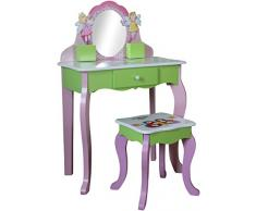 Colore: Rosa Motivo: Fate Liberty House Sgabello e com/ò con Specchio Set da Bambina