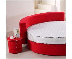 MMWYC Comodini Armadietto in Pelle Comodino Comodino con cassettiera Contenitore in Pelle Imbottita (Dimensioni: 44x43 cm) (Color : Red)