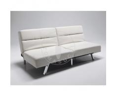 Tomasucci Emi cream divano letto in pelle eco panna
