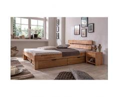 Elfo letto futon Jule in legno di faggio oliato, 140 x 200 cm