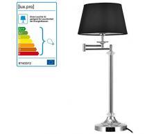 [lux.pro] Elegante lampada da tavolo Swing - (attacco E14)(60 cm x Ø 24 cm) Lampada da scrivania oppure Lampada da comodino