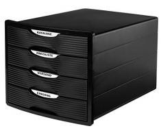 Han Cassettiera MONITOR – Design innovativo e attraente di alta qualità con 4 cassetti chiusi per DIN A4/C4, scatola portaoggetti disponibile esclusivamente su Amazon 1001-13