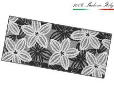 ARREDIAMOINSIEME-nelweb Tappeto Cucina Floreale Tessitura 3D Retro Antiscivolo Moderno Multiuso Passatoia Corridoio Bagno Camera MOD.Enea 50x80 Grigio (G)