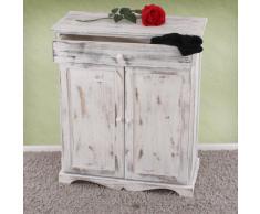 Serie vintage credenza cassettiera legno paulonia cassetto e sportelli 33x66x78cm ~ bianco