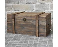 chemin_de_campagne - Cassapanca grande in legno, stile antico, 90 x 56 x 48 cm