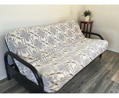 OctoRose Full Size Bonded Classic Soft Micro Suede futon di Copertura Letto Divano Full Size Chenille-Grey