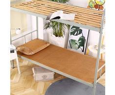 YXLHJY Estate Dormire Studente Materasso Ortopedico,stuoia di Dormitorio Letto Singolo Tappetino Pieghevole in Seta di Ghiaccio Rattan-b Full