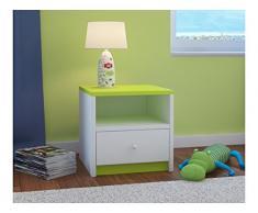 Childrens Beds Home Comodino per Bambini Babydreams per Bambini, Bambini, Junior (Verde, 40x40x30)