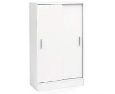 File Cabinet in Legno 60 x 107,5 x 28,5 cm Bianco. Mobile Multiuso di Design. Armadio Ufficio Moderno. Mobili da Ingresso cassettiera. Comò per credenza. Piccolo armadietto
