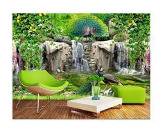 carta da parati 3d della foto su ordinazione Roccia fresca del fiore del pavone del valletto Decorazione domestica soggiorno 3d murales di carta da parati per pareti 3 d-400X280cm