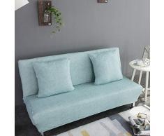 Monba Lino Modello Divano Letto futon Cover Pieghevole Senza braccioli Completo di Fodera per Living Room, Poliestere, Light Blue, XL:195-225cm