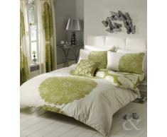 Basta contempo barocco set copripiumino _ Parent, Cream/Green, King