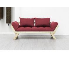 VivereZen - Divano letto futon Bebop - Zen Struttura in legno nera + futon colorato