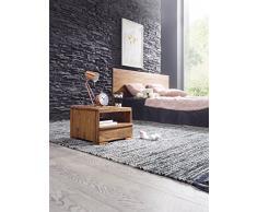 """Wohnling wl1,519 in legno massiccio Sheesham-Comodino con cassetto e mensola, dimensioni: 40 x 40 x 30 cm (39,37"""") x 29,21 (15,5 cm x 11,5"""")"""