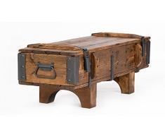 Cassapanca in legno di pino, stile antico e rustico, ideale per cottage vintage; dimensioni: 105 x 37 x 37 cm (lunghezza x larghezza x altezza)