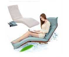 Chi Cheng Fang Electronic business Pieghevole sedia a sdraio relax pigro divano letto sedile con più regolabile Lounge Lounge Chaise longue Futon materasso sedile cuscino della sedia (Color : Blue)