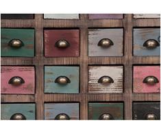 Cassettiera Vintage multicolor in legno di paulonia L63xPR27xH70 cm