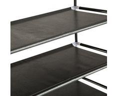 TecTake Scaffale scarpiera a ripiani portascarpe porta scarpe armadio mobile 4 ripiani 60x70,5x29 cm