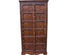 Guru-Shop Cabinet Coloniale, R290 Armadio, Legno, 180x90x40 cm, Armadi Armadi