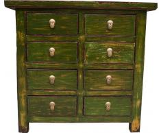 Guru-Shop Dresser, Cassettiera Cinese H027 Stile Coloniale, 91x98x41 cm, Armadietti