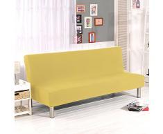 divano imbottito futon copertura divano semplice divano sgabello divano letto coperchio protettore elastico spandex moderno semplice pieghevole divano schienale schienale da yunhigh - giallo