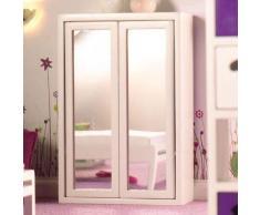 Dolls House Armadio camera letto Specchio bianco 4928