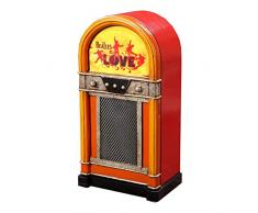 "'Retro Vintage armadio/armadietto da parete""Jukebox - The Beatles - Arancione/Giallo"