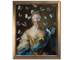 Vintage Portrait Eclectic Print Maximal Art Canvas Painting Muro femminile Surreale Rococò Barocco Poster Decorazione della parete di casa Comodino Sfondo Poster