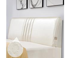 TLMYDD Cuscino da Comodino in Pelle Tatami Cuscino Morbido Cuscino Fiore Cuscino Grande Schienale Cuscino (Color : 2#, Size : 200x10x60cm)