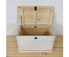 The Handmade Furniture Company - Cassapanca in legno anticato, stile rustico shabby chic, fatta a mano in Inghilterra