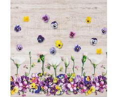R.P. Tappeto arredo Passatoia Cucina, Bagno o Camera da Letto in ciniglia Stampa Digitale -Violet - 100% Made in Italy - Fondo Antiscivolo - cm 58x115