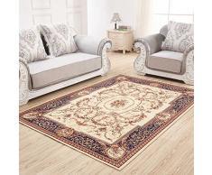 Tappeto orientale, Tappeto Classico da Salotto Stile Persiano, Moderno Stile Floreale, Soggiorno, Camera, Sala da Pranzo, Corridoio